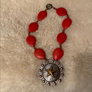 Jewelry - Red Stone and Silver necklace